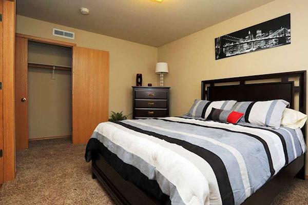 Bedroom at Pines at Southridge Apartments