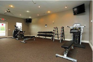 Interior of fitness center at Pines at Southridge