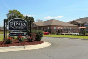 Entrance to Pines at Southridge Apartments in Tahlequah, OK